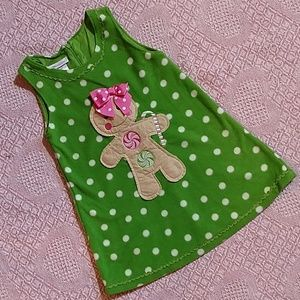 Bonnie Jean Girls Fleece Holiday Dress size 4T EUC